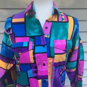 Vintage 80's 90's Wrangler Rodeo western Shirt